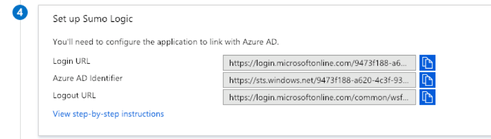 How to integrate Sumo Logic with SAML SSO with Azure Active